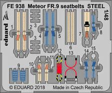 Eduard Zoom FE938 1/48 Gloster Meteor FR.9  seatbelts STEEL Airfix