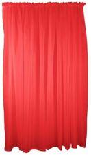 Rideaux et cantonnières rouge prêt à l'emploi en voile pour la maison