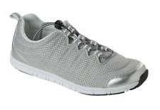 Scholl Wind Step Elastic Lace Trainers Sneakers Pumps in Silver Various Sizes