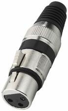 Pareja conector audio profesional xlr hembra metalico 3 pin Canon Monacor