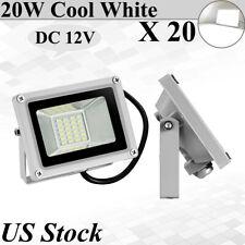 20X 20W Led Flood Lights Outdoor Lanscape Spotlights Fixtures Cool White DC 12V