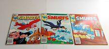Lot of 3 SMURFS Comic Books #1-3 SET Marvel Group TV Cartoon, Gargamel Azrael