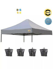 ABCCANOPY 10 X 10 POP UP CANOPY REPLACEMENT Top Cover 100% Waterproof Gray