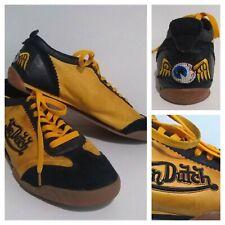 VON DUTCH Retro Mens Leather Sneakers Trainers UK 11 Orange & Black