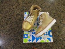 Step & Stride Baby Girls 7 toddler Tilly Sneaker Gold zipper side mock lace NIB