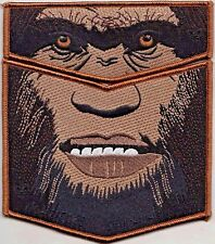 NEW! BIGFOOT OA LODGE 266 BSA GLACIERS EDGE 2018 NOAC 2-PATCH SASQUATCH 200 MADE