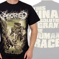 ABORTED - Global Flatline - T SHIRT S-M-L-XL-2XL Brand New - Official T Shirt