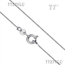 TT 0.8mm 18K White Gold Filled Box Chain Necklace Necklace CF103RS(0.8)-45cm
