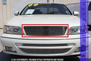 GTG Polished 1PC Replacement Billet Grille fits 1996 - 1999 Infiniti I30 4dr