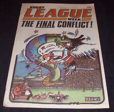 Rugby League Week Newspaper/Magazine Vol 13 No 33  1982