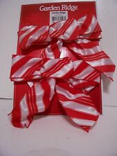 2 Red & White Candy Striped Bow Decoration