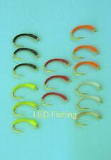15 X EPOXY SKINNY BUZZER FISHING FLIES SIZE 12 BY AQUASTRONG (008)