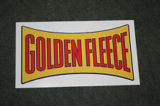 Golden Fleece 'Dogbone' style vinyl decal for petrol bowser / pump (small)