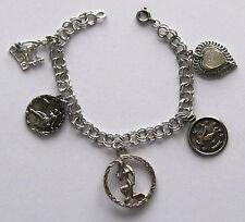 vintage sterling charm bracelet-Zodiac VIRGO