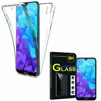 "Coque Silicone Gel protection 360° + Verre Trempé Huawei Y5 (2019) 5.71"" AMN-LX1"