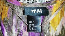 Women Dress H & M Brand Purple & Multi Floral Color Knee Length