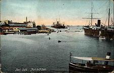 Port Said Ägypten Egypt AK ~1910 Hafen Schiffe Seefahrt Ships Harbor ungelaufen