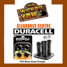 PS3 PS4 Move & Navigation Controller Quad Charger by Duracell-NEW