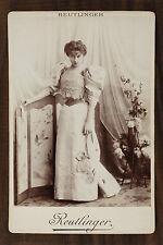 Lucy Gérard, Actrice de théâtre, Photo Cabinet card, Reutlinger Paris