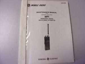 Vintage Manual GE General Electric MPI  Maintenance Radio FM Mobile UHF