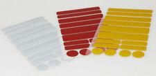 Kinderwagen, Buggy 42 Reflex Sticker rot, silber, gelb reflektierende Aufkleber
