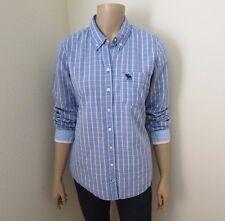 Abercrombie Plaid Button Down Shirt Size Large Top Blouse