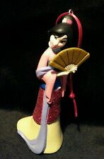 Disney Princess Mulan glittering Christmas Ornament PVC  Asian Dress