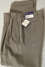 NWT Alan Flusser Poly Modal Oatmeal Color Pants Size W32 L32