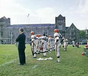 NFL 1960 Cleveland Browns Jim Brown on Sidelines Color 8 X 10 Photo Picture