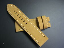 24 mm Regia Tan Genuine Suede Leather Watch Strap! band belt brass bronzo