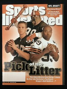 Tim Couch Akili Smith Sports Illustrated Magazine 4/19/99 Wildcats Ducks Browns