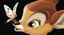 Disney Bambi & Butterfly Counted Cross Stitch Kit Designs In Thread  Free P&P