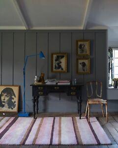 Soft Pink Striped Ainslie AIN01 High Quality Modern Handmade Wool Rugs -50% RRP