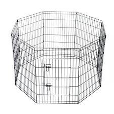 PawHut  Recinto per Cani Gatti Roditori Recinzione Rete Gabbia, 91x61cm, Nero