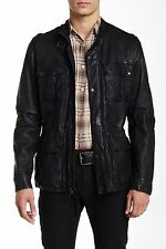 NWT Cole Haan Vintage Genuine Leather Moto Bomber Mens Jacket L Large $695