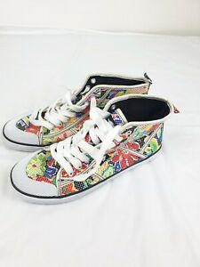Rocket dog womens girls paisley Printed Hightop trainers canvas Shoes UK 4 Eur37