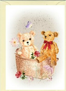 """Teddy Bear (No.2.) (4"""" x 6"""") Blank Card ideal for any occasion - by Starprint"""
