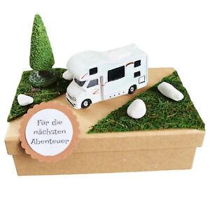 Geschenk Box Reise Urlaub Wohnmobil Camper für Geld oder Gutschein