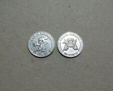 2 x different 2000 Power Digimon gaming tokens 26 mm