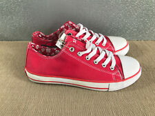 BNWT Older Girls  Sz 5 Rivers Doghouse Brand watermelon lace up Canvas Shoes