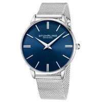 Stuhrling 3998 2 Preston Quartz Stainless Steel Mesh Bracelet Mens Watch