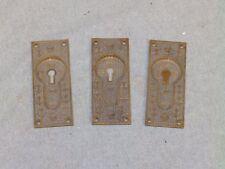 3 Antique Brass Pocket Doorn Pulls Easklake Hardware Old Vintage 791-16