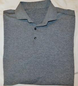 Men's Lululemon SS Propel Polo Shirt  Heather Black- Luxtreme Stretch - Size XL