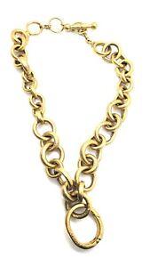 EARLY Signed Steven Vaubel CIRCLE Link Necklace w. RARE Enhancer Pendant Clip