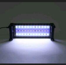LED Aquarium Beleuchtung Vollspektrum Lampe Pflanzen Aufsetzleuchte Weiß+Blau DE