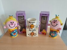 More details for mr men little miss bundle ty plush wine glass yellow cups thoip sanrio mr tickle