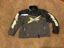 Ski-Doo Xl (X-Large) Jacket Shell Snowmobile Coat Yellow Black Racing Team