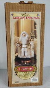 """Grandeur Noel 16"""" Santa Claus Figurine Father Christmas 1999 Collectors Edition"""