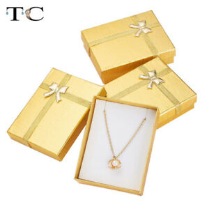 Ring Necklace Earring Bow Jewelry Gift Box Delicate Jewelry Box 12pcs 7*9*3cm