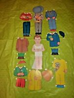 """Vintage Lowe 16"""" Jack Stand-Up Paper Doll with Magic Eyes & Many Clothes (B9 61)"""